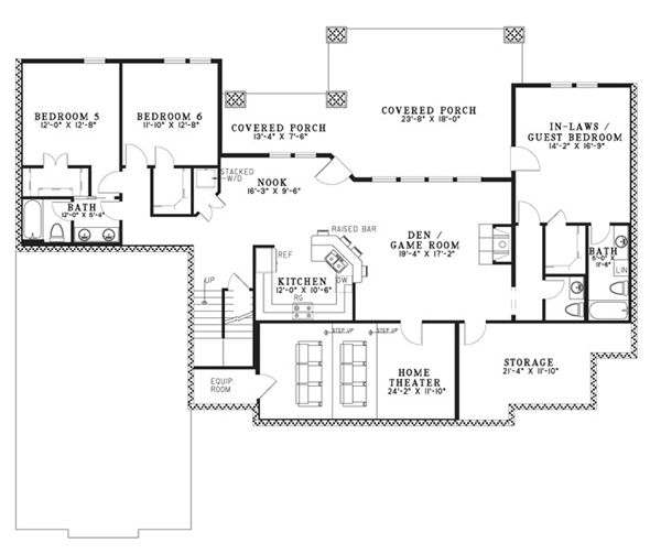 139 best images about house plans on pinterest house for Ranch house plans with inlaw apartment