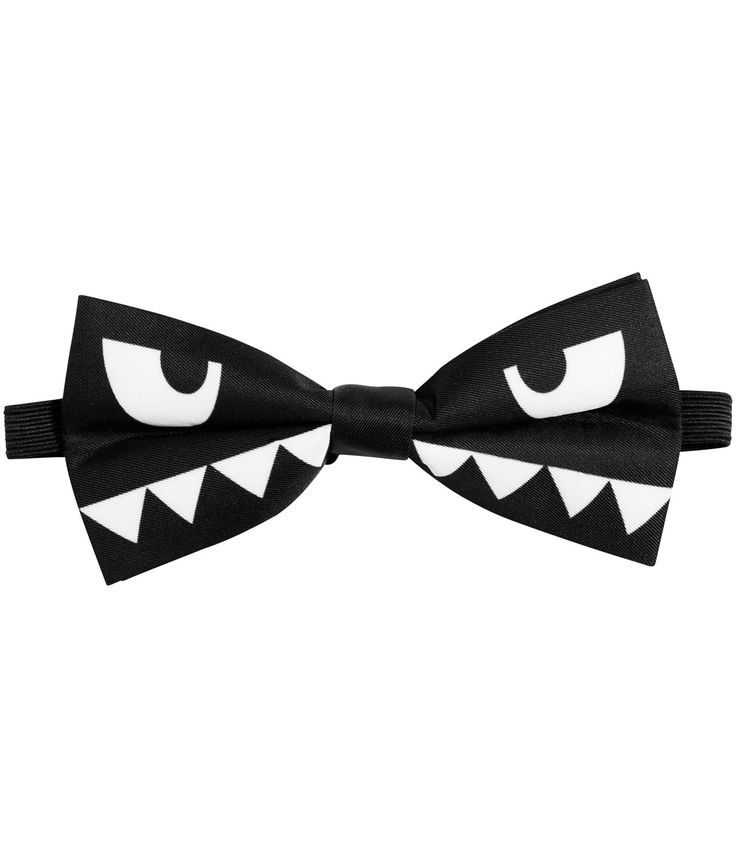 Bowtie with eyes and teeth