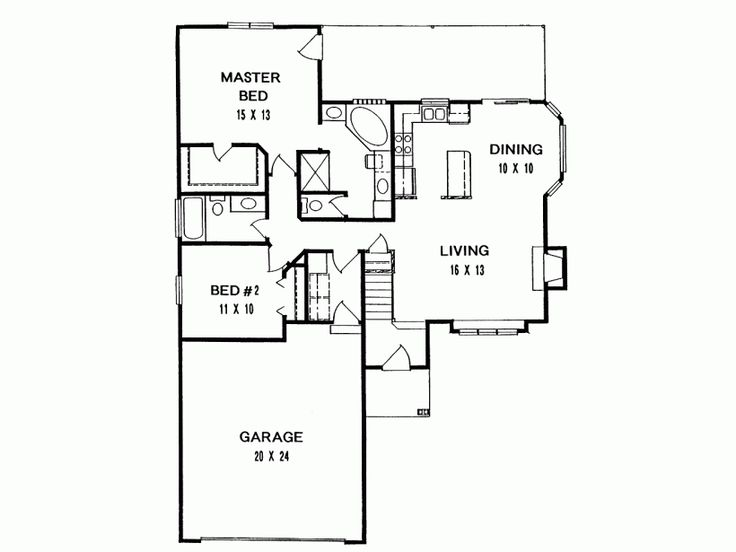 Small cottage floor plan dream homes pinterest for Retirement cottage house plans