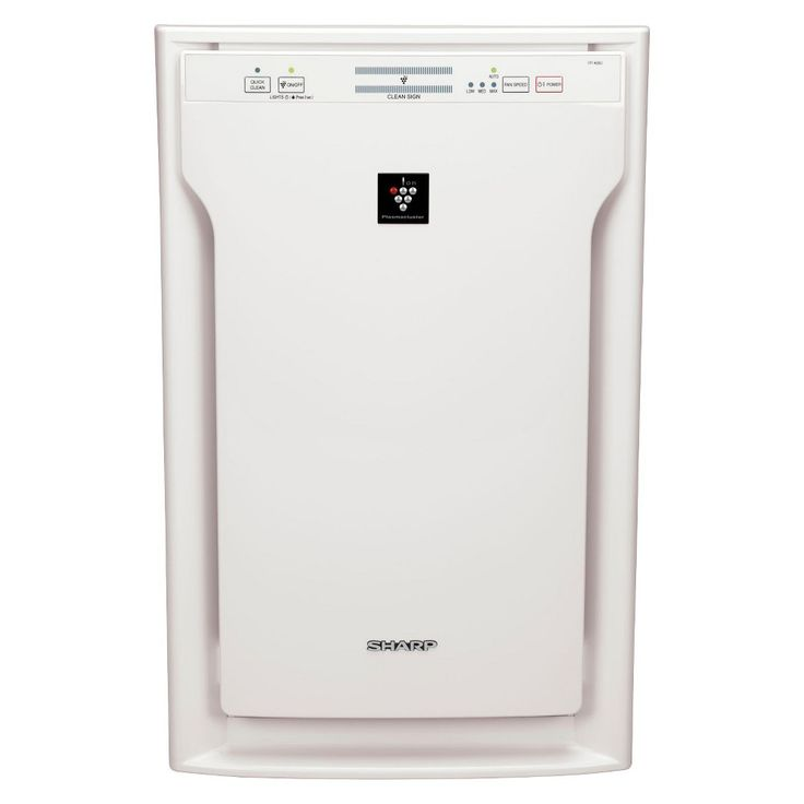 Sharp FP-A80UW Plasmacluster Air Purifier with Hepa Filter, White