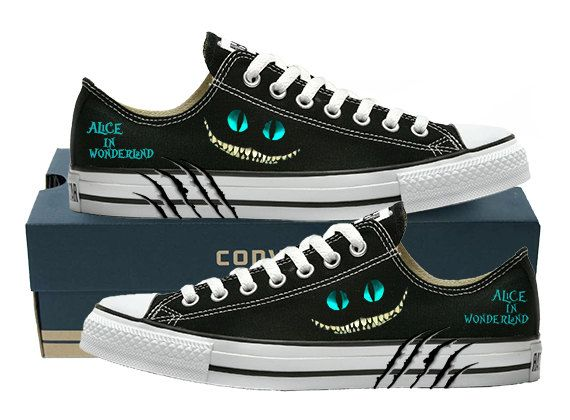 Hey, I found this really awesome Etsy listing at https://www.etsy.com/listing/206463256/hand-painted-converse-lo-alice-in