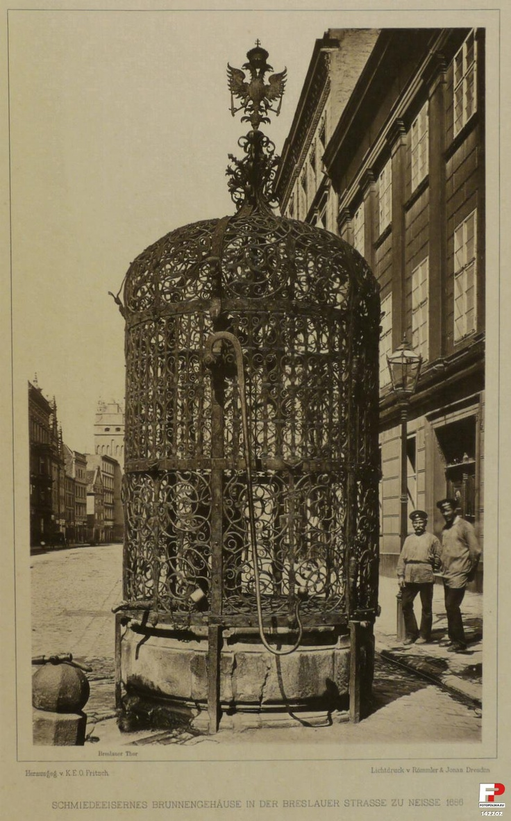 Beautiful Well in Nysa/now in Poland (photo taken 1900-1925)