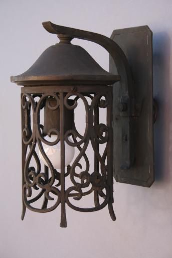 vintage garden lights | Light, Antique Outdoor Lighting, Antique and Spanish Revival Lighting ...