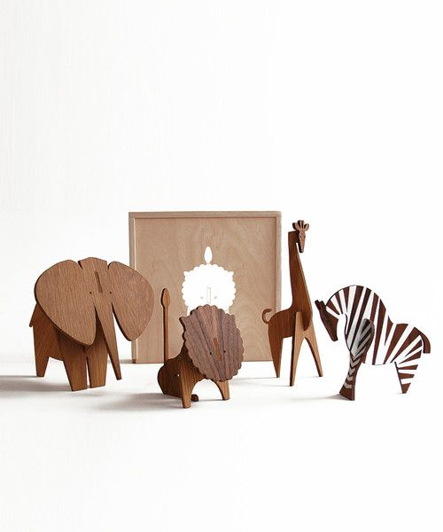 Safari wooden slot puzzle animals