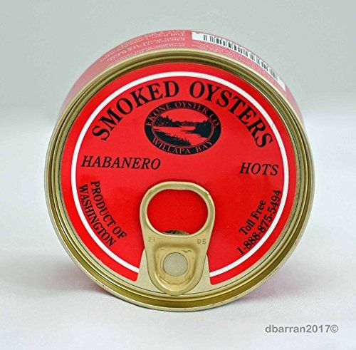 Habanero Hots Flavored Smoked Oysters Farmed in USA  Willapa Bay Washington by Ekone Oysters *** Want additional info? Click on the image. #amazing