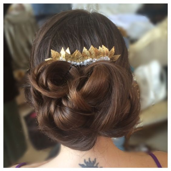 One of our brides at her trial Hair (and makeup) WHAM Artists http://weddinghairandmakeupartists.com/gallery