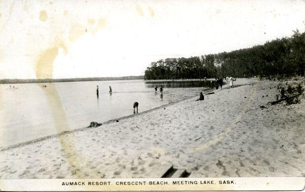 Aumack Resort, Crescent Beach, Meeting Lake, Sask.   saskhistoryonline.ca
