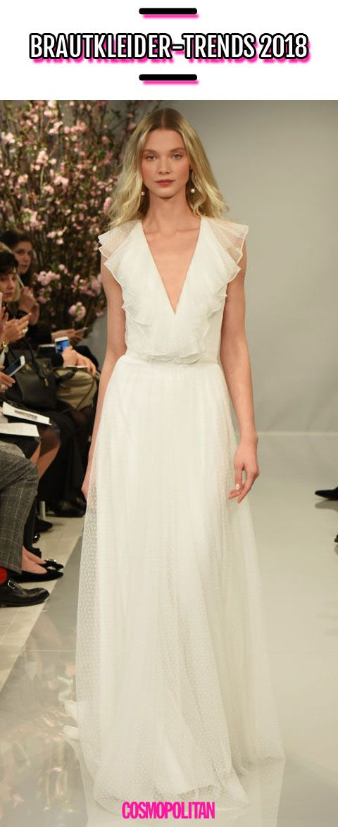 Diese Brautkleider von der Bridal Week New York zeigen uns, was 2018 Trend wird...