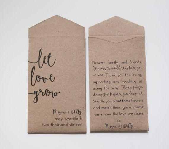 Tan-Let Love wachsen benutzerdefinierte Seed Packet von Megmichelle