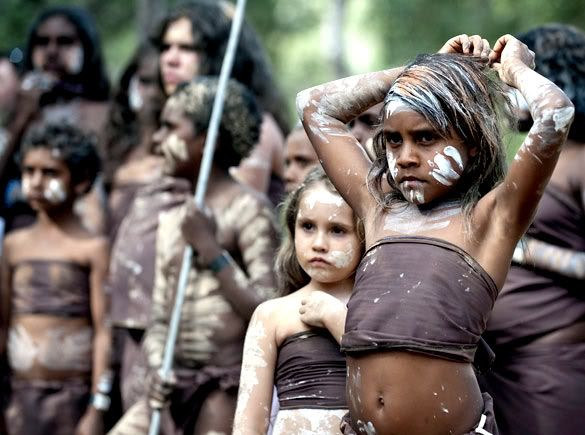 """Young dancers wait to perform at the Laura Aboriginal Dance Festival in North Queensland, Australia. The biennial festival has been running for 30 years and attracts dancers from across Queensland - Dave Hunt/EPA"" Via: http://www.aliraqi.org/forums/showthread.php?p=147800118"