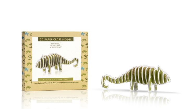 Navarino Icons 3D Paper Craft Model – African Chameleon