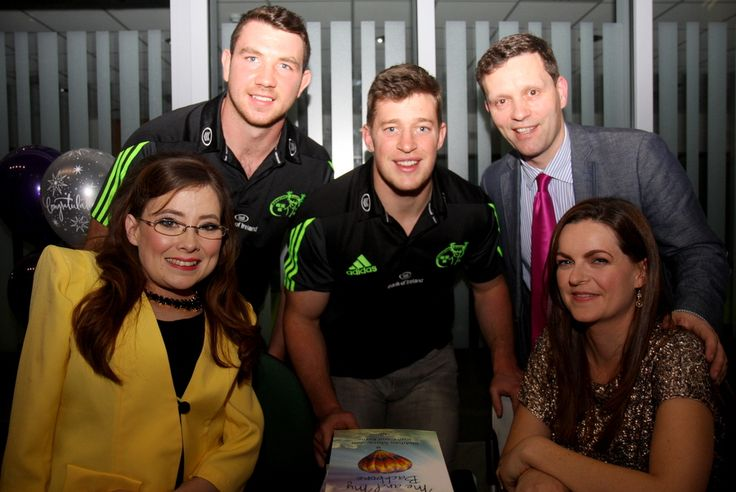 Even Munster Rugby Players came along to the Book launch of 'Me and My Back Bone'.