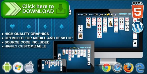[ThemeForest]Free nulled download FreeCell Solitaire - HTML5 Solitaire Game from http://zippyfile.download/f.php?id=44170 Tags: ecommerce, ace, card, card game, cards, clubs, diamonds, free cell, freecell, hearts, html5 solitaire, logic, puzzle, relax, solitaire, solitaire game