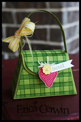 Sneak Peek -- Cute purse created with the SU Petite Purse Die & Summer Smooches DSP