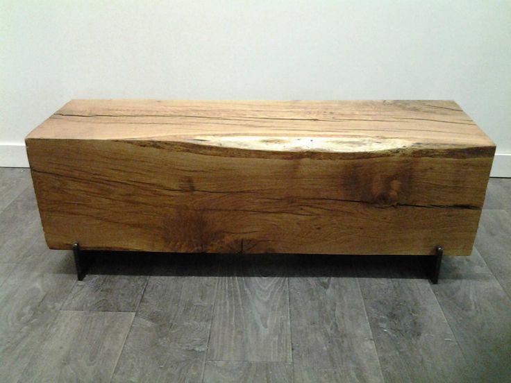 banc poutre ch ne bench pinterest. Black Bedroom Furniture Sets. Home Design Ideas