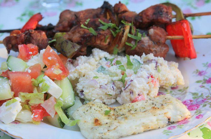 Recept på grillmat, tillbehör och sallader
