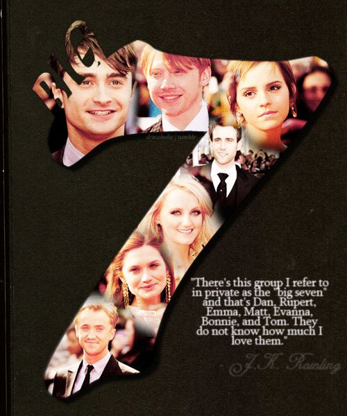 J.K. Rowling quote about the main Harry Potter actors