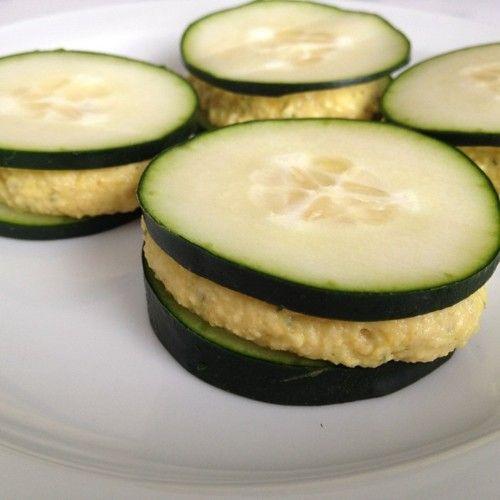 cucumber + hummus sandwiches