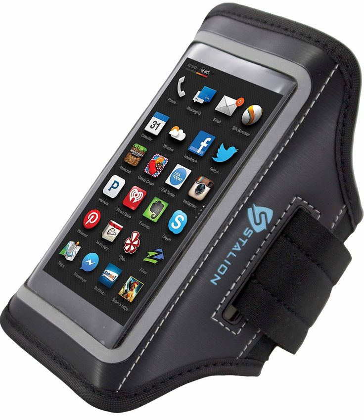 Amazon Fire Phone Armband: Stalion® Sports Running & Exercise Gym Sportband (Jet Black) Water Resistant + Sweat Proof + Key Holder. Stalion Sports Armband; the perfect fit designed specifically for your Amazon Fire Smartphone (AT&T). Tired of holding your phone while trying to exercise or do your daily activities!? Worried about dropping your phone and damaging it while you're working out? Need protection and functionality? Stalion Sports Armband: Easy to use. Simply slide your. Enjoy...