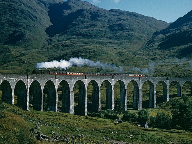 11 Real-Life Harry Potter Destinations You Can Visit   THE JACOBITE, SCOTLAND   Looking for an attraction that will scratch your Harry Potter sight-seeing itch and satisfy your travel companions? Try the Jacobite, a steam train that runs along the western coast of Scotland, giving travelers a gorgeous view of the Scottish countryside – and make you feel like you're riding the Hogwarts Express in real life.