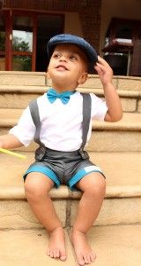 Suspender shorts and bowtie for little boys from www.mokopu.co.za