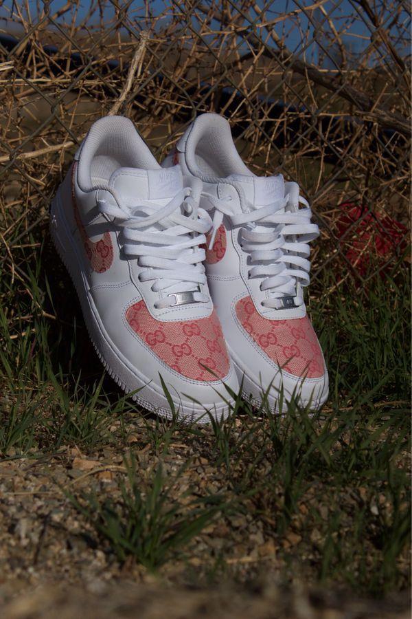 Custom Pink Gucci Nike Air Force 1 sz10 for Sale in Corona