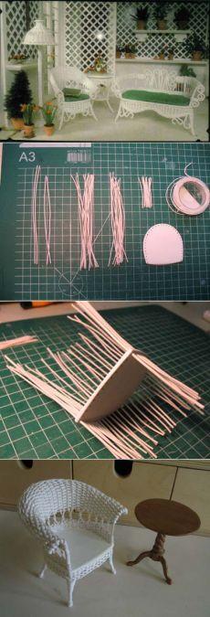 Cómo tejer muebles para muñecas