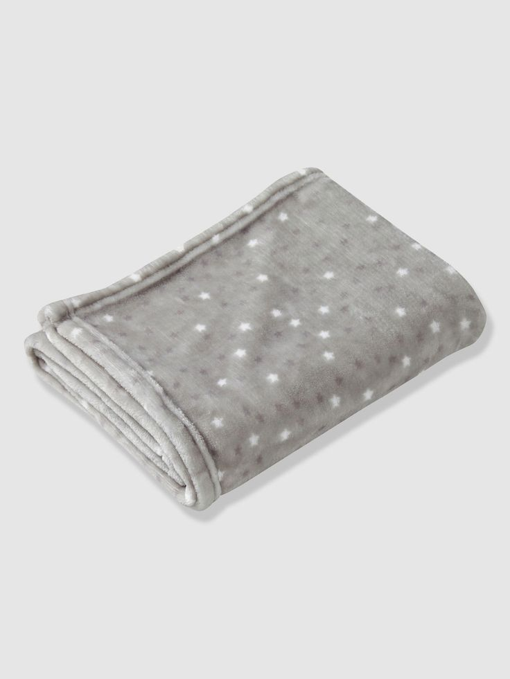 Pretty blanket covered in stars so you can wrap baby up warm and soft. Ideal in a pushchair or when you're holding your baby.