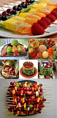 Как украсить стол фруктами. Оригинальная фруктовая нарезка и оформление на праздничном столе   Красивые Вещи своими руками