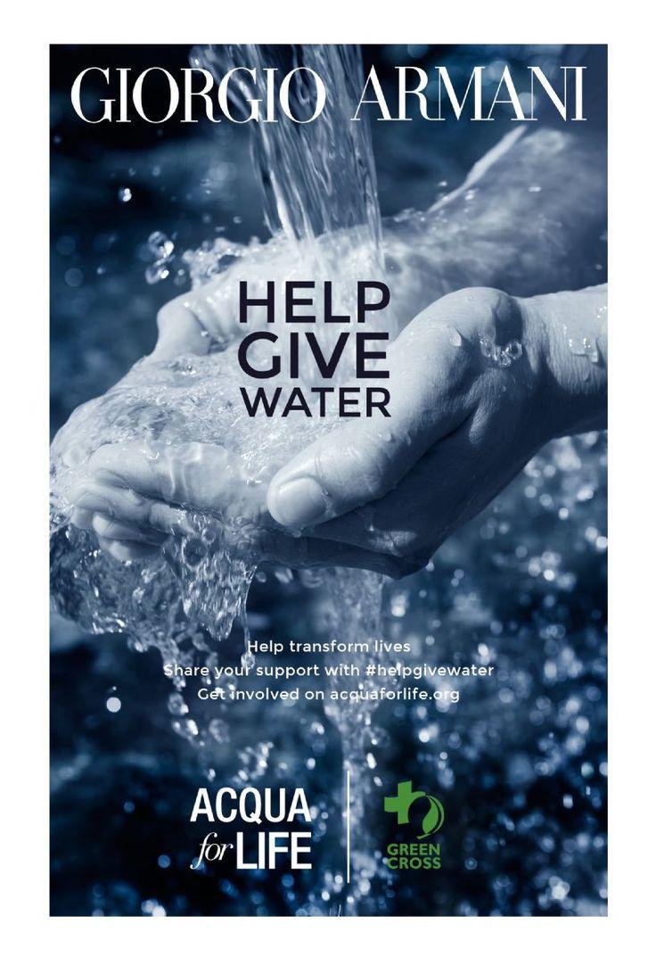 Το πρόγραμμα Acqua for Life προσκαλεί και …προκαλεί προσωπικότητες, δημοσιογράφους, bloggers, με επιρροή στον κόσμο της μόδας και της ομορφιάς σε ένα νέο challenge ευαισθητοποίησης, με στόχο να διαδοθεί η ανάγκη για περισσότερο καθαρό, ασφαλές νερό. Αφετηρία η Κυριακή 22 Μαρτίου, Παγκόσμια ημέρα νερού.