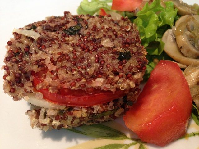 quibe de carne com quinoa
