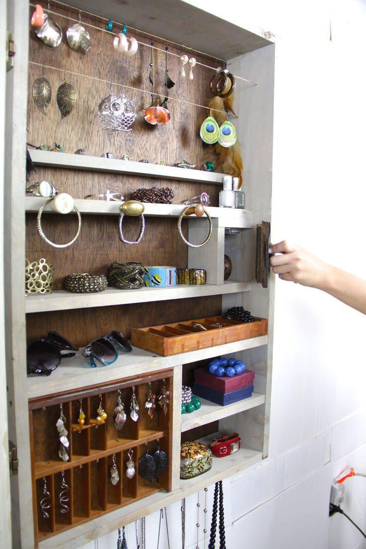 Jewelry organizer, jewelry storage, jewelry display,  jewelry holder, Jewelry cabinet, Jewelry closet..... Handmade by TangleandFold. $280.00, via Etsy.