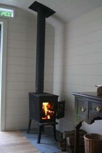Wood burning stove inside a shepherd's hut from Court and Hunt (UK)