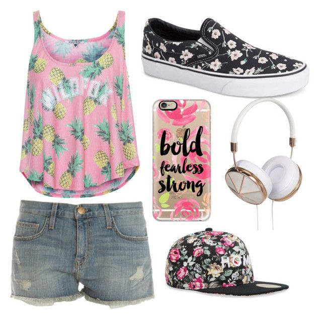 """""""Bold Fearless Strong"""" by cami-garcia-2 on Polyvore featuring Wildfox, Current/Elliott, Vans, Casetify, Frends and Alex and Chloe"""