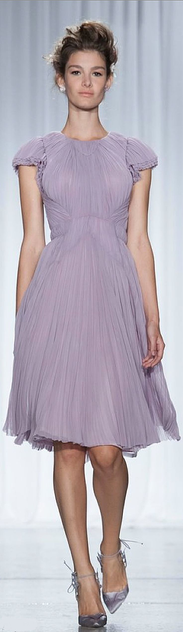 This lilac dress would be perfect for a spring wedding for Zac posen short wedding dress