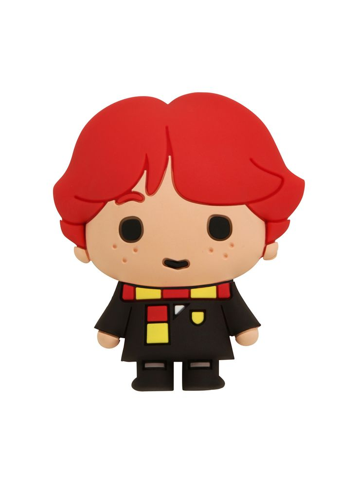 """<div>Take Ron Weasley with you to Hogwarts in magnet form! This <i>Harry Potter</i> magnet is almost as cute as Ron himself, complete with Gryffindor scarf detail.</div><div><br></div><div><ul><li style=""""list-style-position: inside !important; list-style-type: disc !important"""">2 1/2"""" x 2""""</li><li style=""""list-style-position: inside !important; list-style-type: disc !..."""
