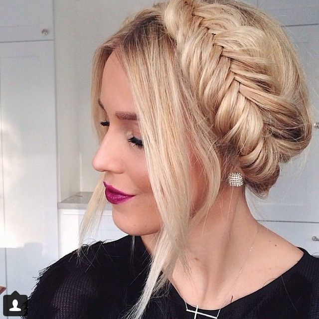 Fishtail milkmaid braid.