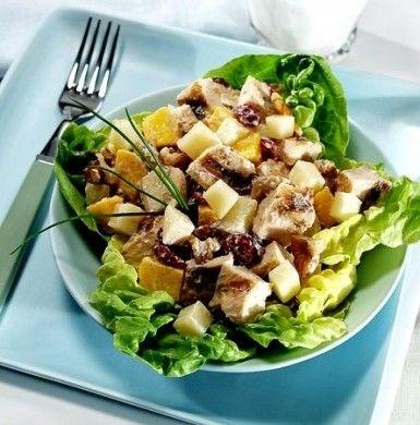 Ricetta per l' insalatona di pollo mele e Emmental