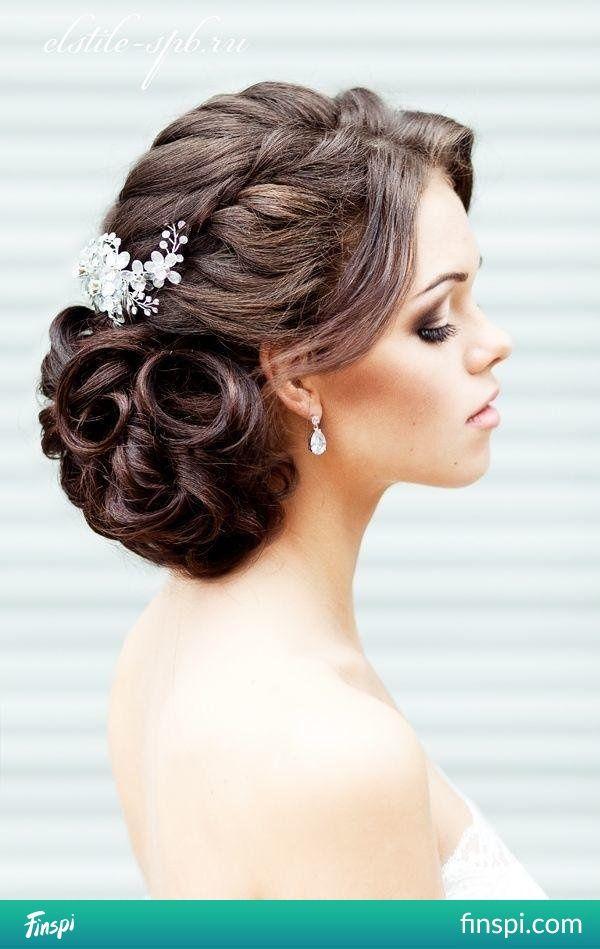 Śliczne :) #uroda #fryzury #kok #fryzura #fryzury ślubne #upięcie #upięcie włosów