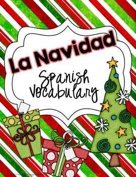 FREE Spanish Christmas Vocabulary Card Game