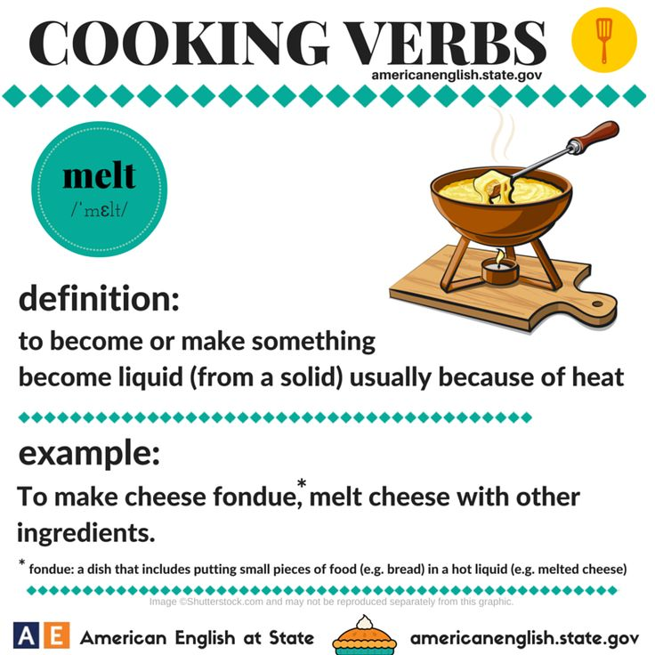Cooking Verbs: melt