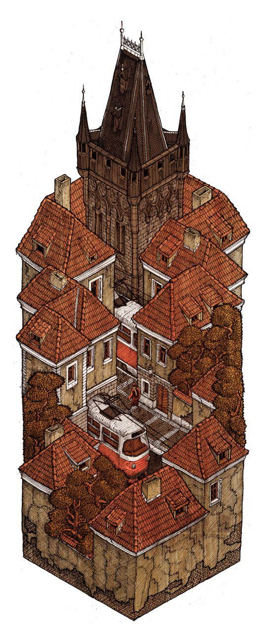 Illustrated Urban Isosections :::... Evan Wakelin