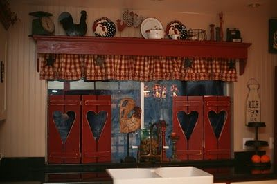 My Dear Trash: Country Shutters...would look darling on my kitchen window over the sink!!!