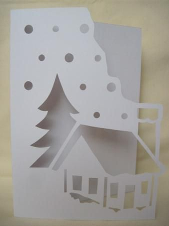 OVER THE EDGE CHRISTMAS SCENE on Craftsuprint designed by Apetroae Stefan - In gsd format, with optional backing plate - Now available for download!
