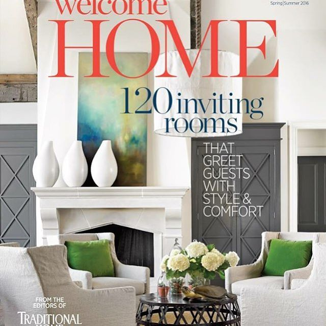 What a huge surprise to find us on the cover of Traditional Homes  magazine Welcome Home today! We had no idea, since this great collaboration took place years ago. Thank you Traditional Homes and Welcome Home for thinking of us! #gooddesign #interiors #lakehouse #renovate #lake #chericoyleinteriors #emilyjenkinsfolowillphotography #coastalliving #welcomehome #traditionalhome #melanieturnerinteriors @traditionalhome @leeindustries @sunbrella @bobo_intriguing_objects @bradleyusa