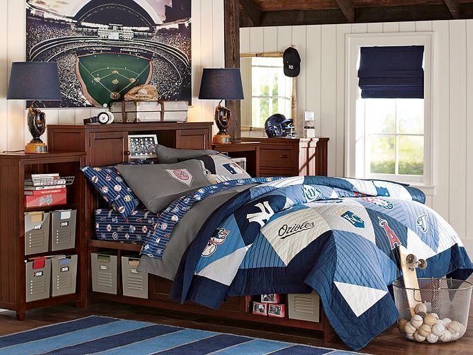 MLB Beadboard Bedroom