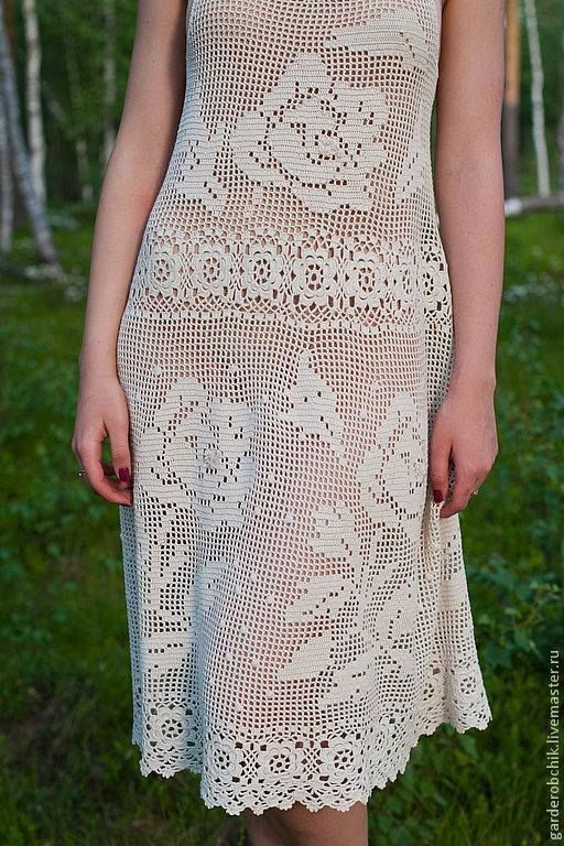 filet crochet dress, no pattern but the previous two pinned boards is ...