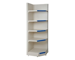 Corner shelving units to neaten up your store and make use of wasted space