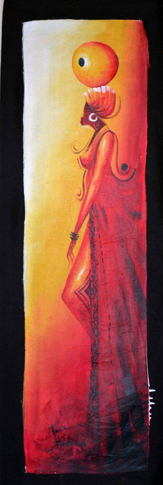 African Art African Painting Afrocentric Art by Boriquahafrikanah, $45.00