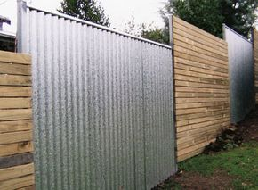 Cheap Privacy Fence | Corrugated Metal Fence Image – FeaturePics.com – A stock image